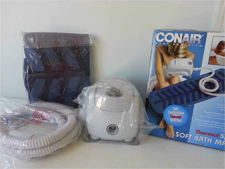 amazon com conair thermal spa soft bath mat thermal spa bath mat by conair beauty