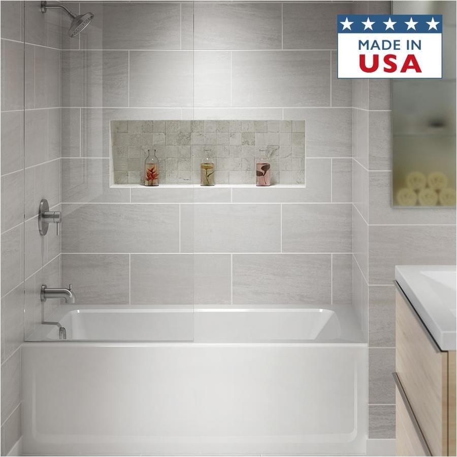 jacuzzi primo 60 in white acrylic rectangular left hand drain alcove bathtub