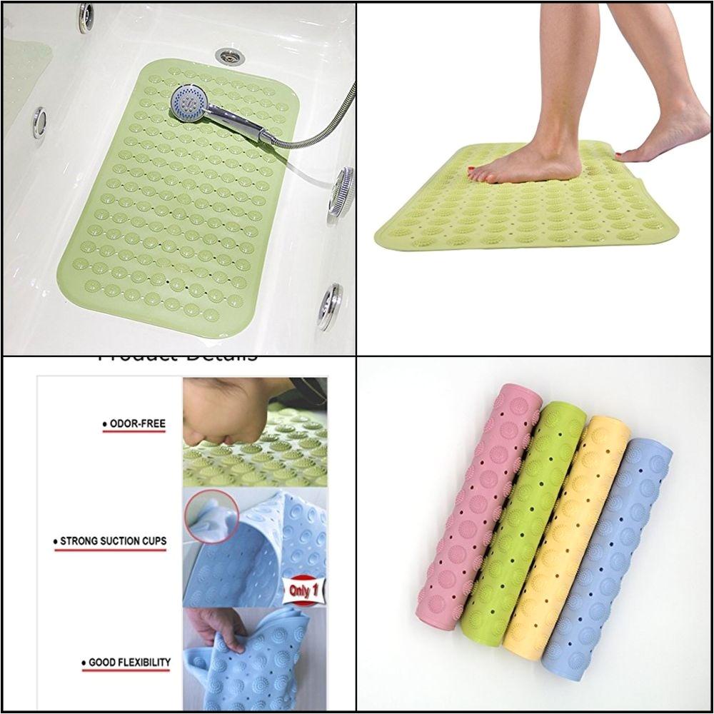 bath tub mat shower anti slip massage ball no odor soft natural rubber non slip 7849475046396 ebay