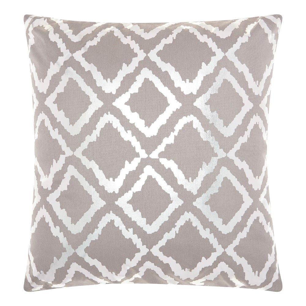 Bathtub Pillow Target Silver Gray Quatrefoil Design Throw Pillow Mina Victory Products