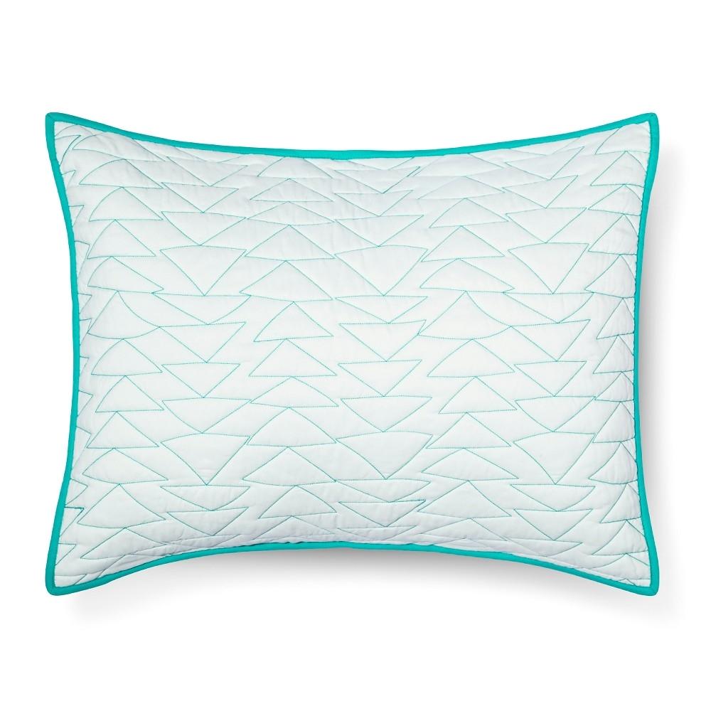triangle stitch pillow sham standard mint green pillowfort
