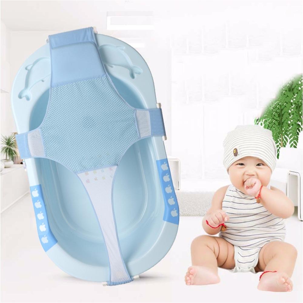 infant bath net baby bathtub pad cross shaped slippery adjustable bath mat bathtub seat safety support