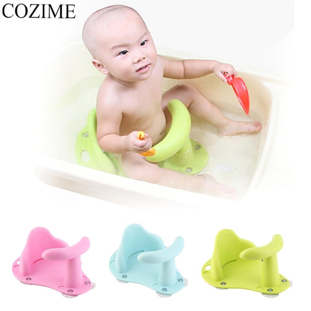 cozime baby bathtub anti slip seat safety chair plastic kids mat cushion portable non slip