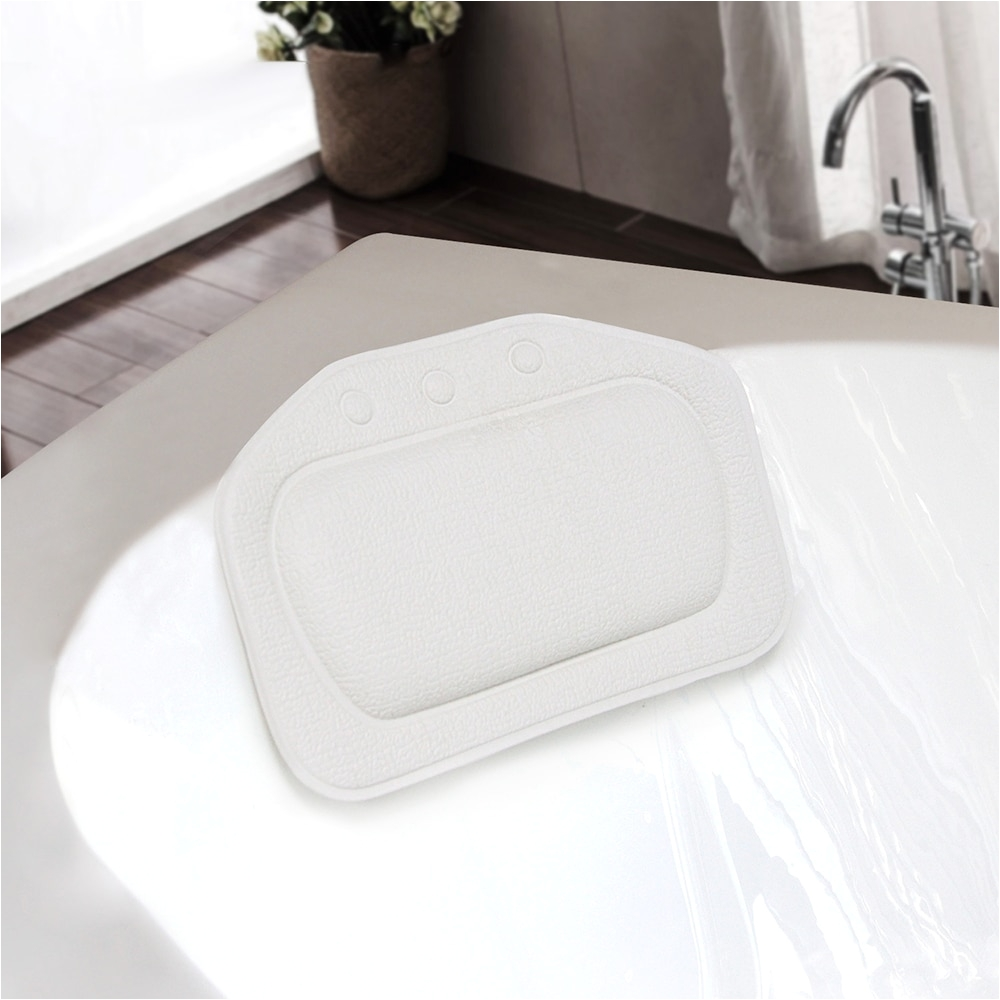 waterproof spa bath neck pillow soft bathroom headrest suction cup bathtub pillow eco friendly bath