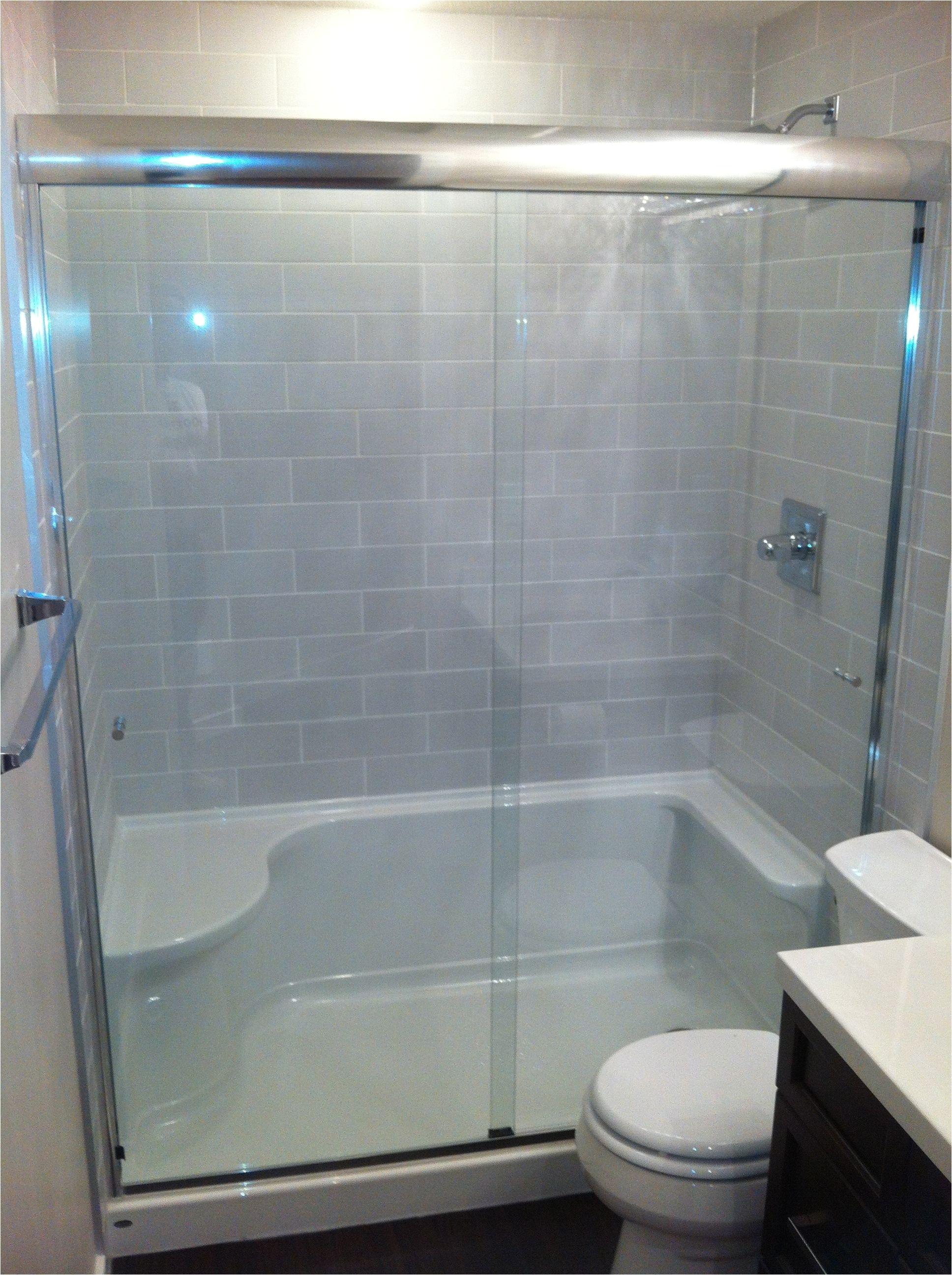 tile shower tub to shower conversion bathroom renovation