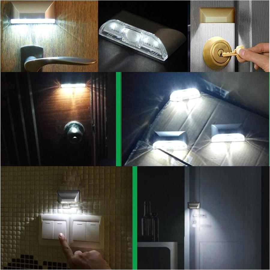 led battery operated ceiling light inspirational tanbaby 4 led pir motion sensor door keyhole light battery