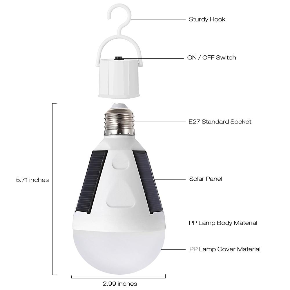 12w solar panel led bulb led solar lamp solar power ip65 led light outdoor solar lamp spotlight garden light emergency lamp in solar lamps from lights