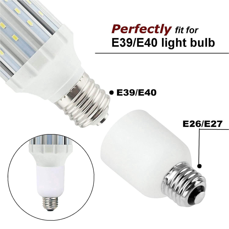 e26 e27 medium edison screw e39 mogul base light bulb socket lamp enlarger converter adapter 1 pack amazon com
