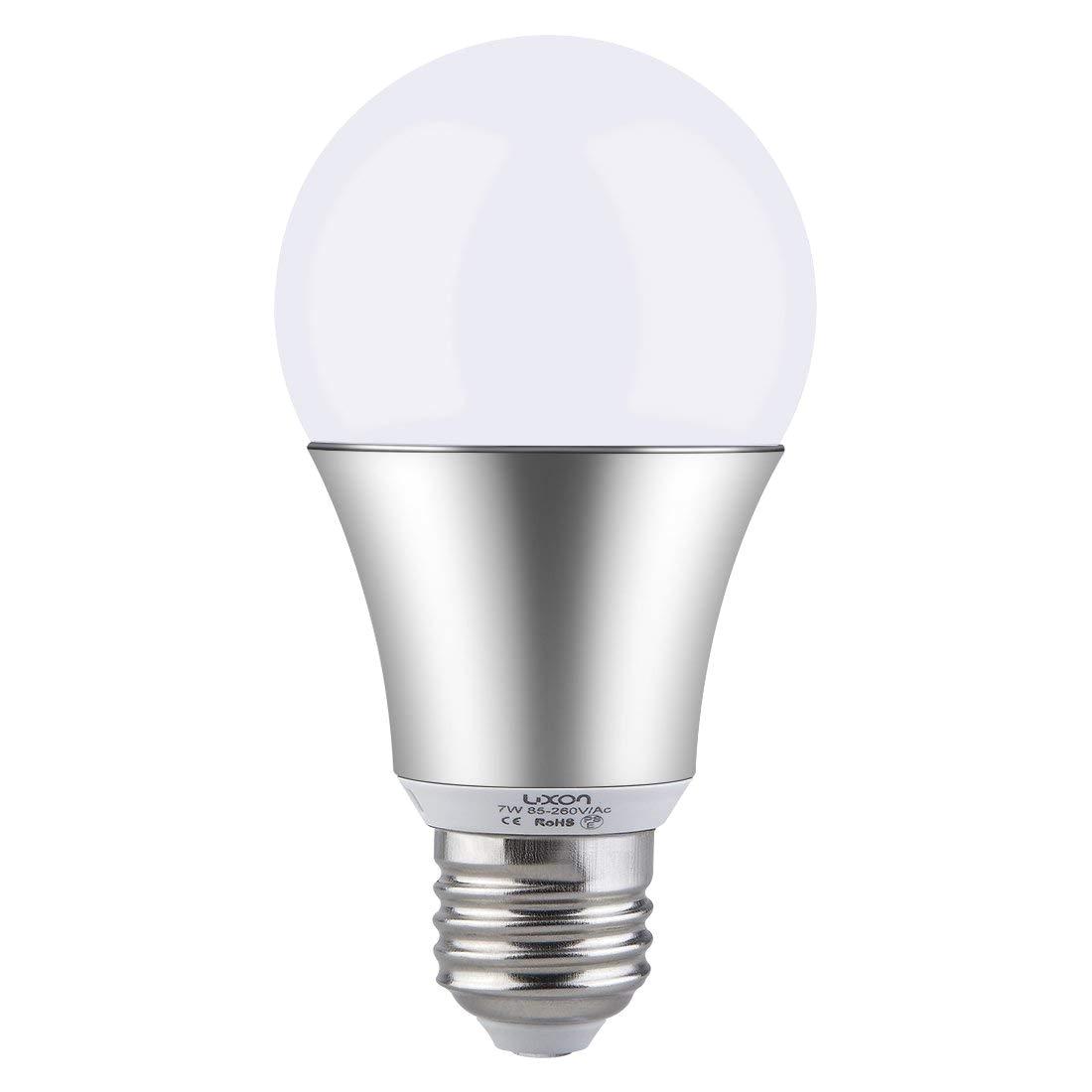 luxon motion sensor light bulb 7w smart bulb radar dusk to dawn led motion sensor light bulbs e26 base indoor sensor night lights soft white 2700k outdoor