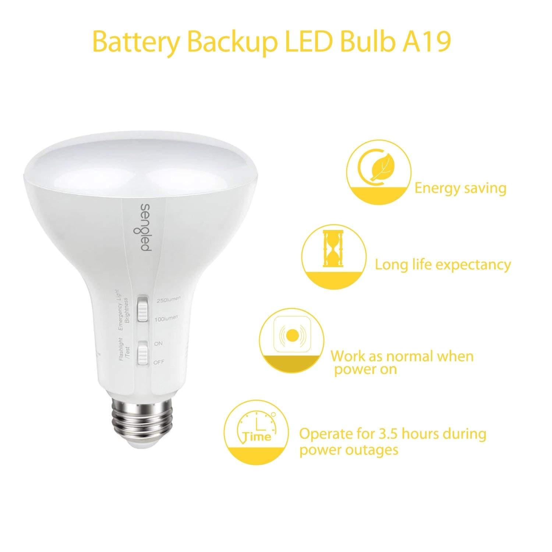Battery Operated Light Bulb socket Sengled Emergency Light Bulb Built In Rechargeable Batteries Works