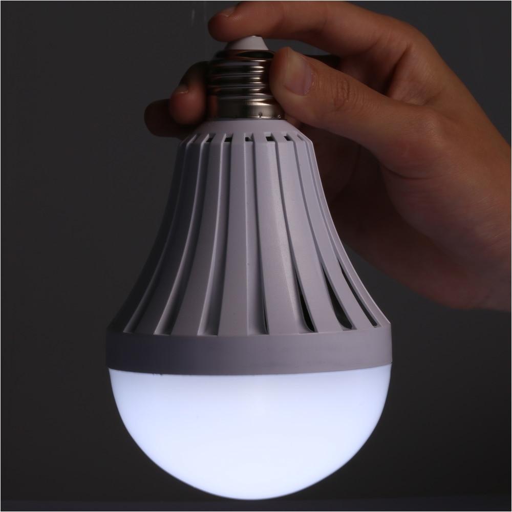 rechargeable led bulbs battery powered light bulb e27 85 265v bombilla battery smart led lights camping lamp led emergency bulb in led bulbs tubes from
