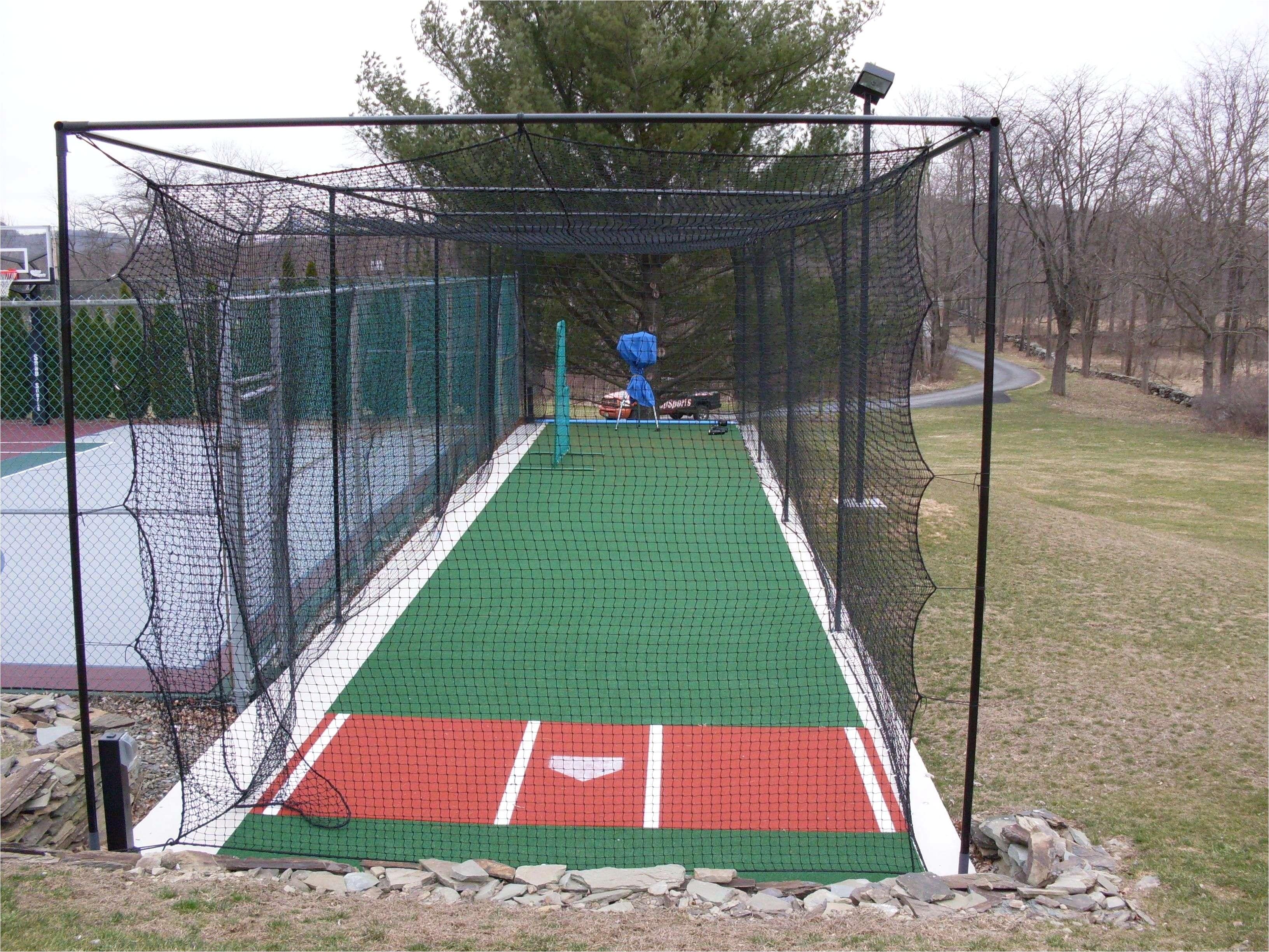 backyard basketball court and batting cage new residential batting cage sportprosusa baseball of backyard basketball court