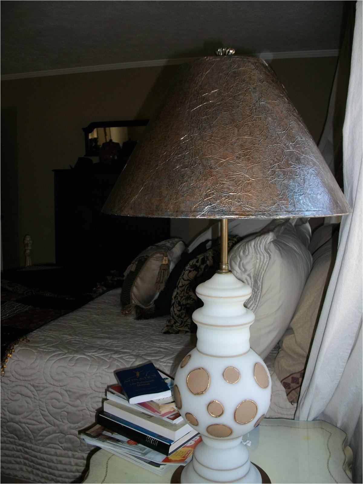 tin foil lamp shade redo