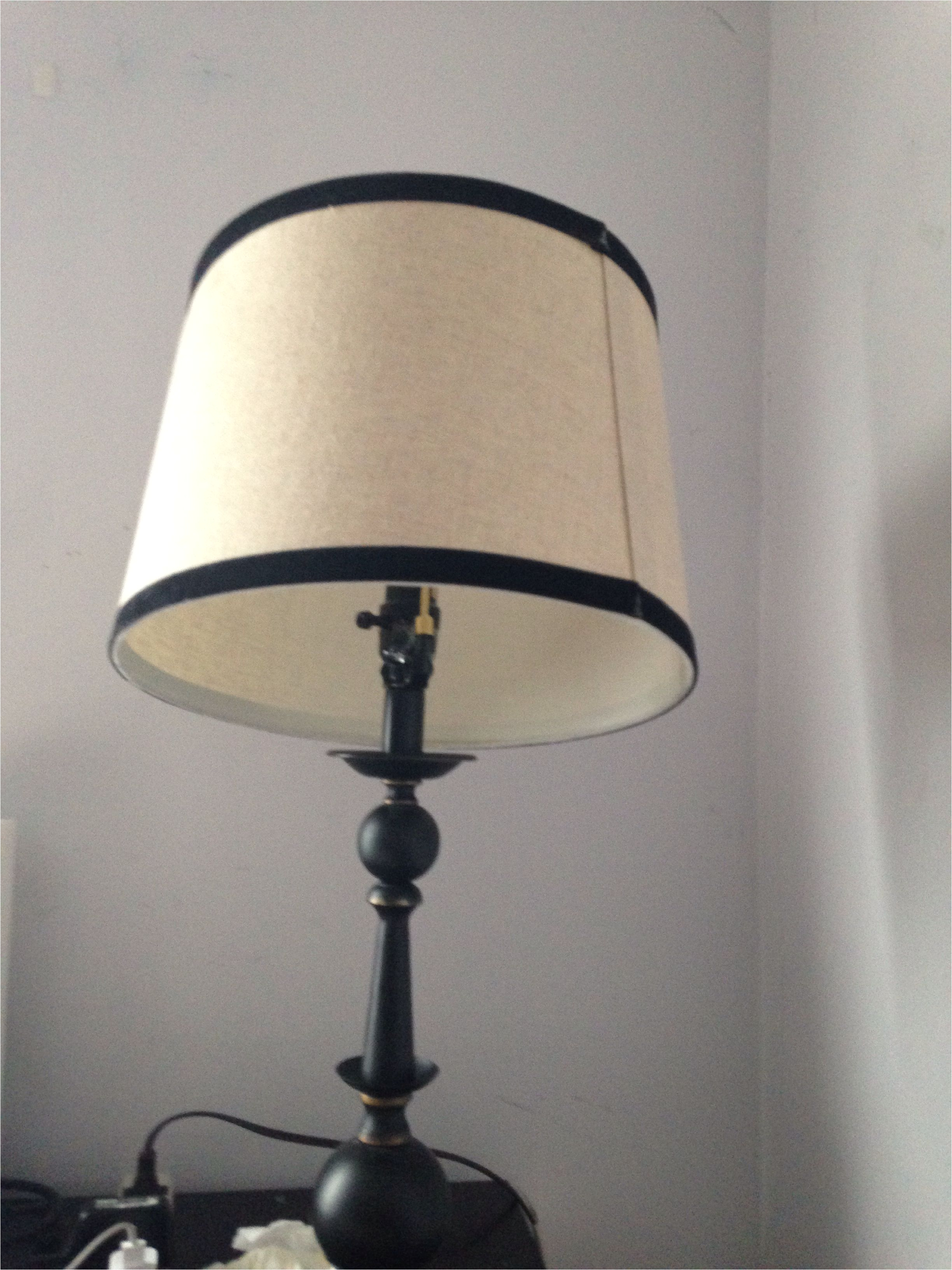 lampshade wont stay straight