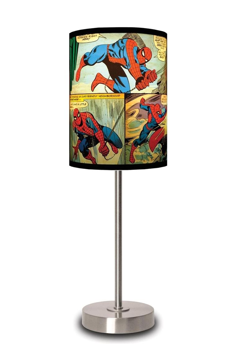 spider man panels lamp shade