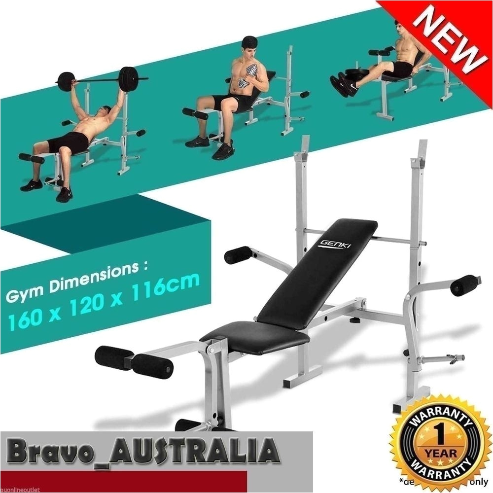 new multi station weight bench press fitness equipment flat incline gym leg curl