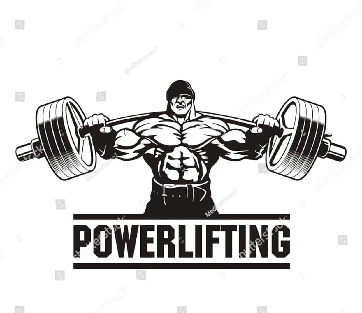 bodybuilding logo bench press powerlifting squats athlete muscle searching