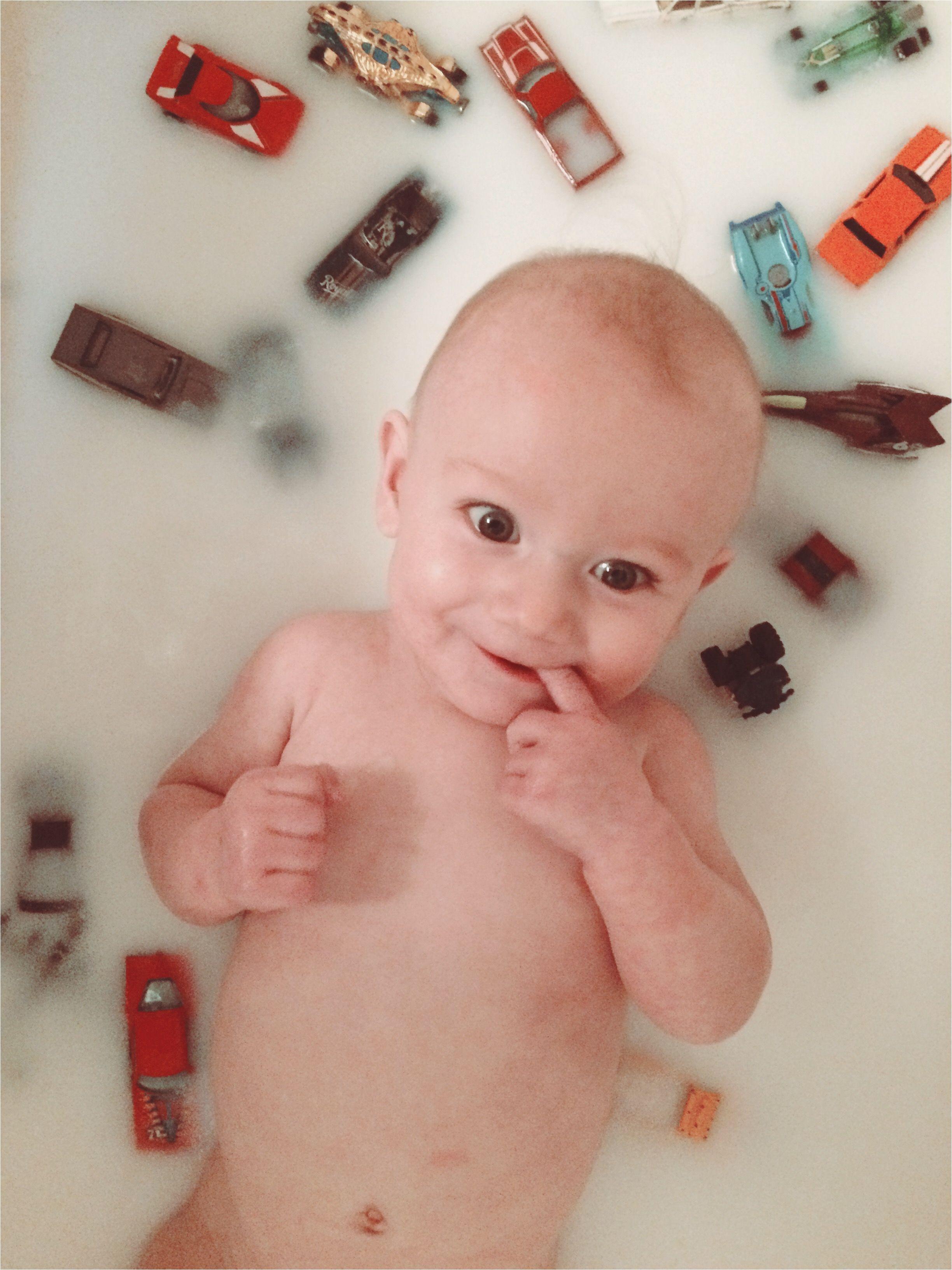 baby boy 6 month milk bath breastfeeding milestone