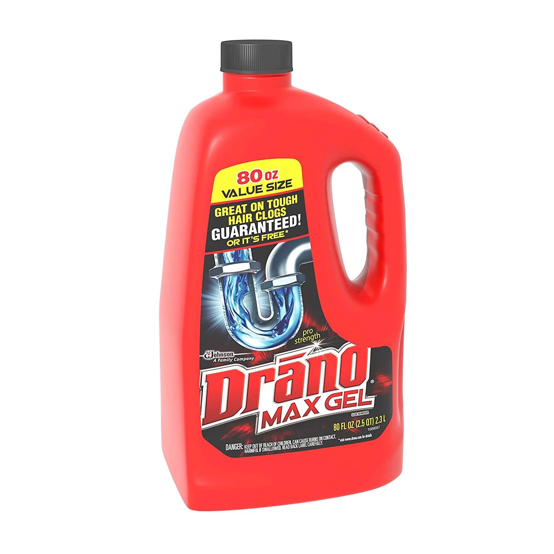 amazon com drano max gel clog remover 80 ounce health personal care