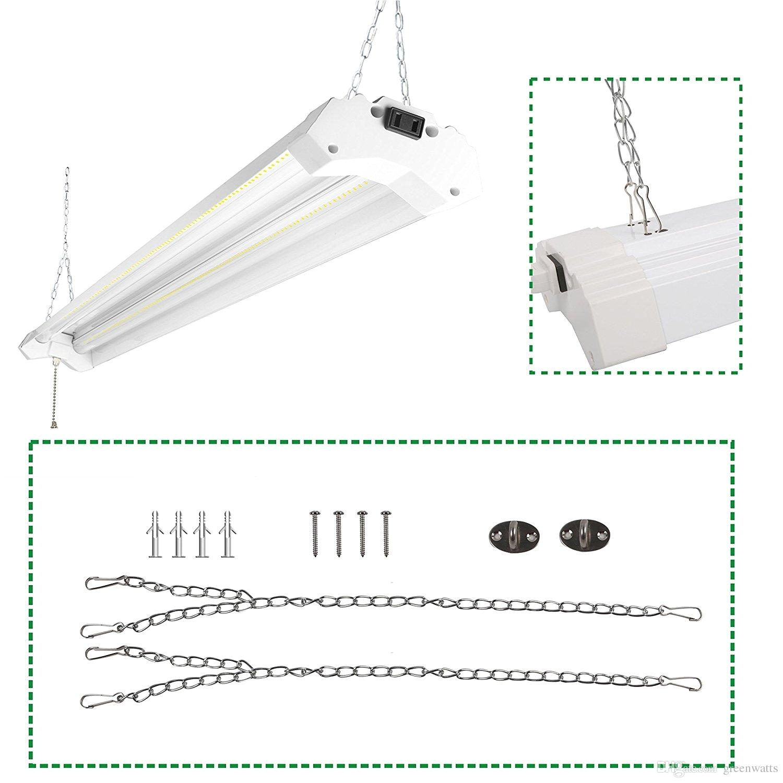 linkable led utility shop light 4ft 4800 lumens super bright 40w 5000k daylight etl certified led garage lights fixture durable led fixture ul high bay