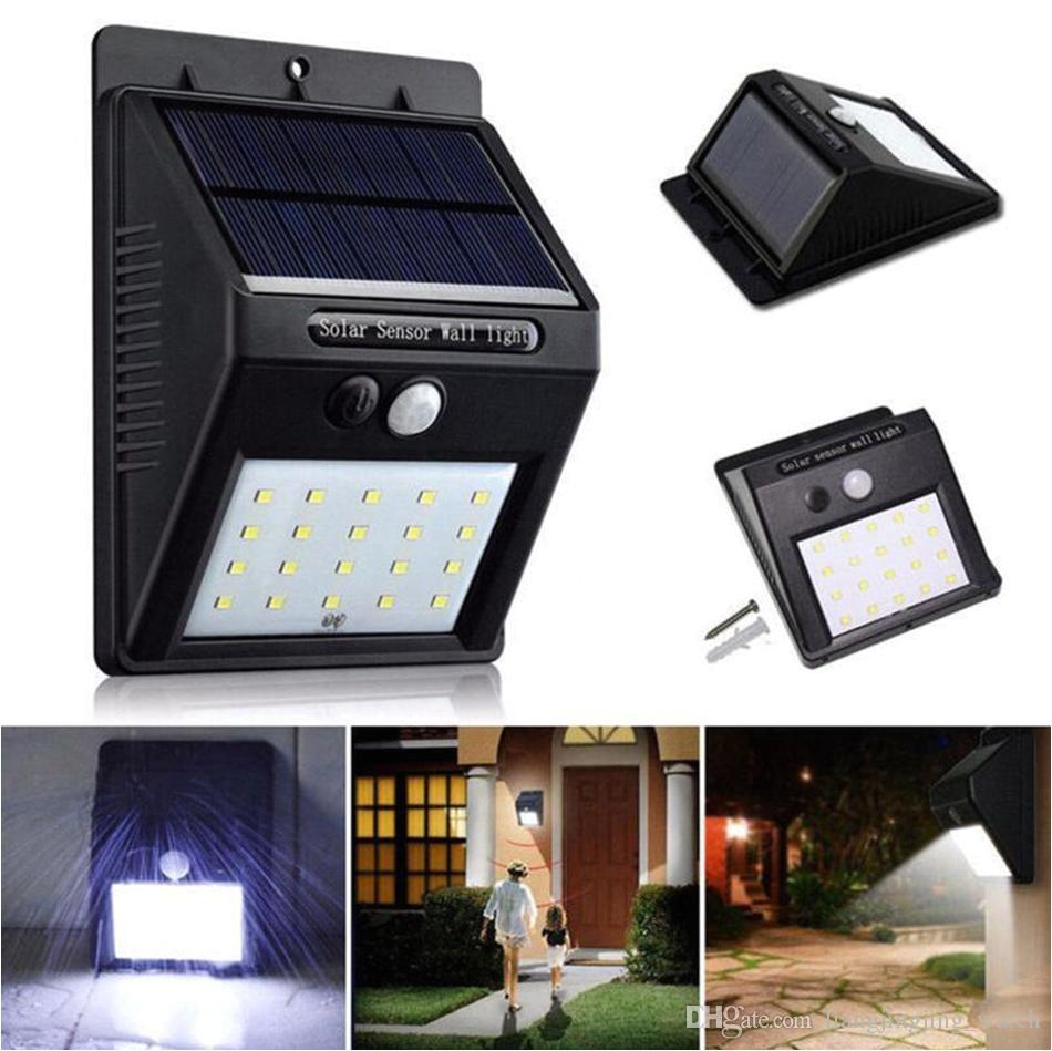 discount 20 led solar power spot light motion sensor outdoor garden wall light security lamp gutter ooa3130 from china dhgate com