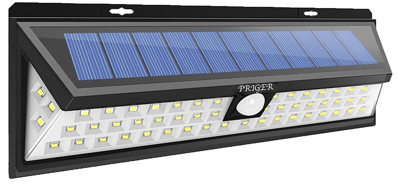 priger solar lights outdoor motion sensor security light outside led flood spotlight for patio garden deck pathway waterproof wireless solar