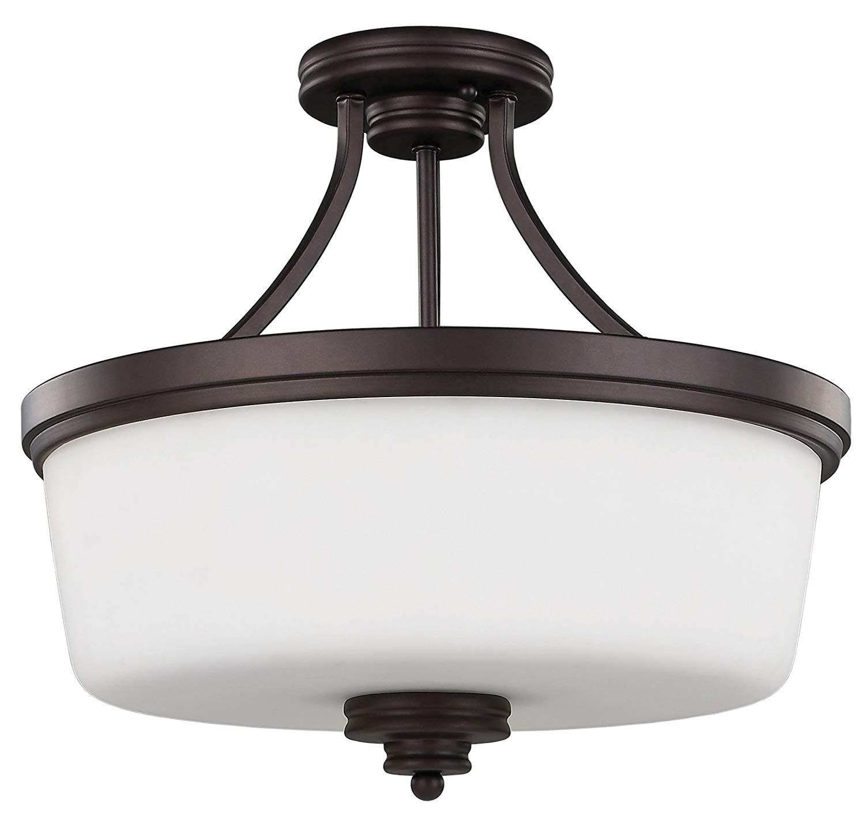 amazon com canarm isf286a03orb 3 light jackson semi flush semi flush ceiling light oil rubbed bronze home improvement