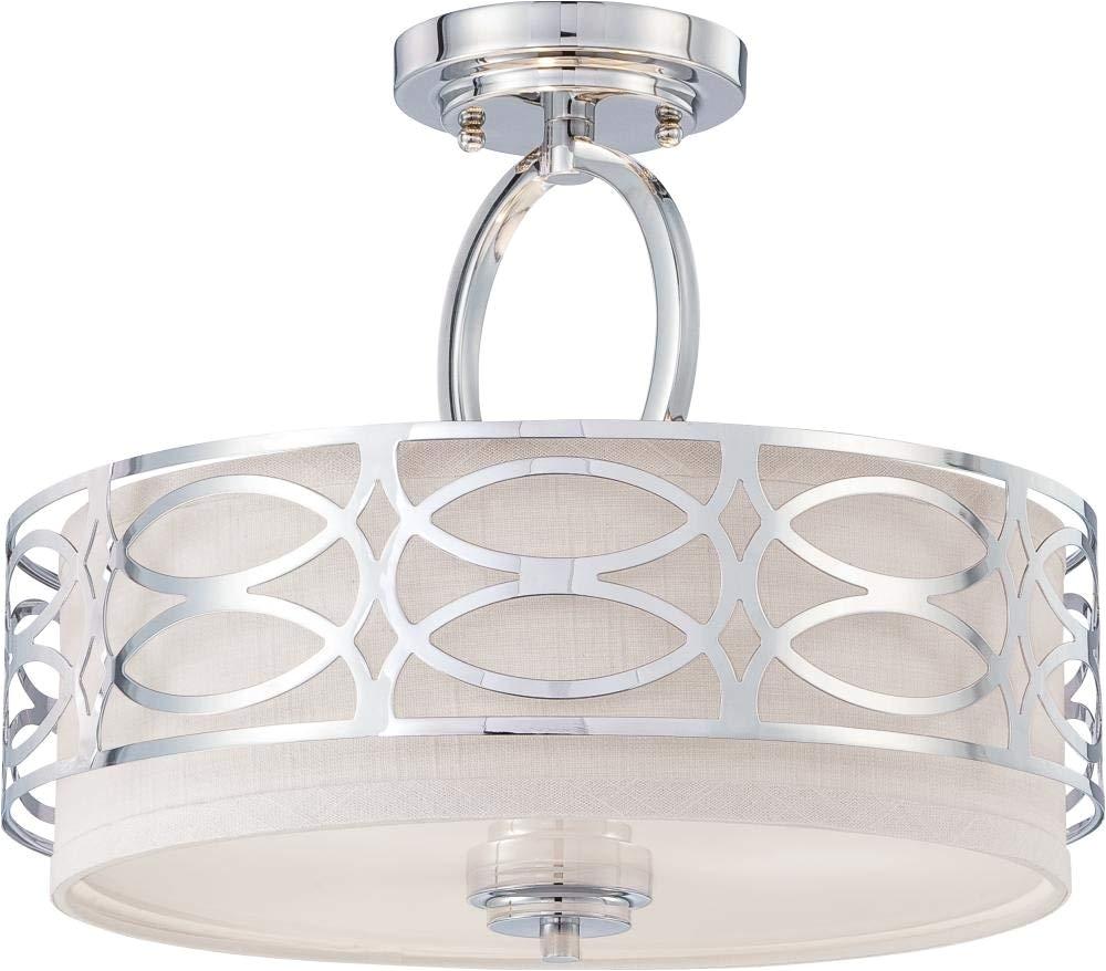 amazon com nuvo lighting 60 4629 three light semi flush mount home improvement