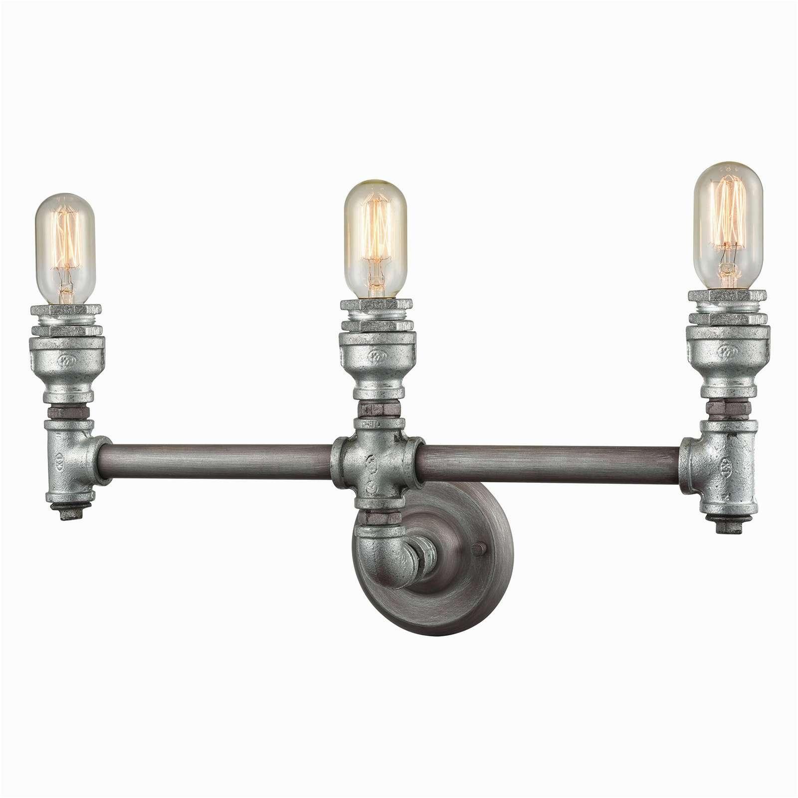 elegant elk lighting cast iron pipe 3 3 light bathroom vanity light inspirational