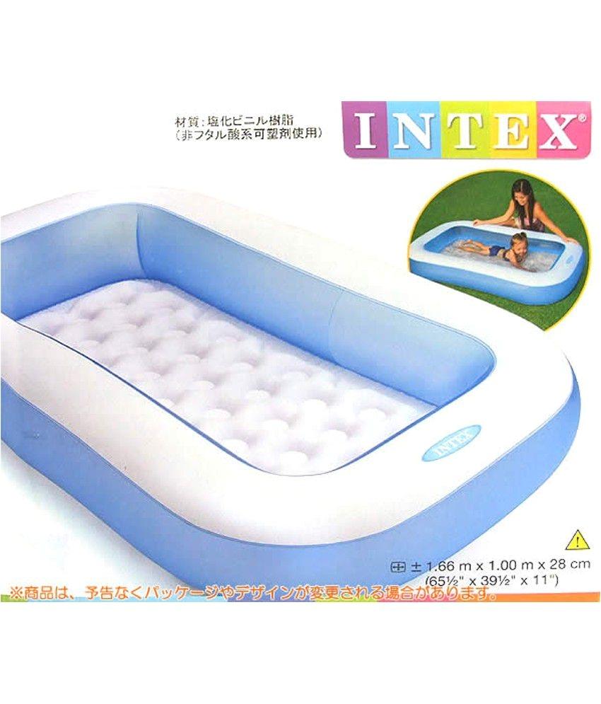intex inflatable rectangular pool 5 ft