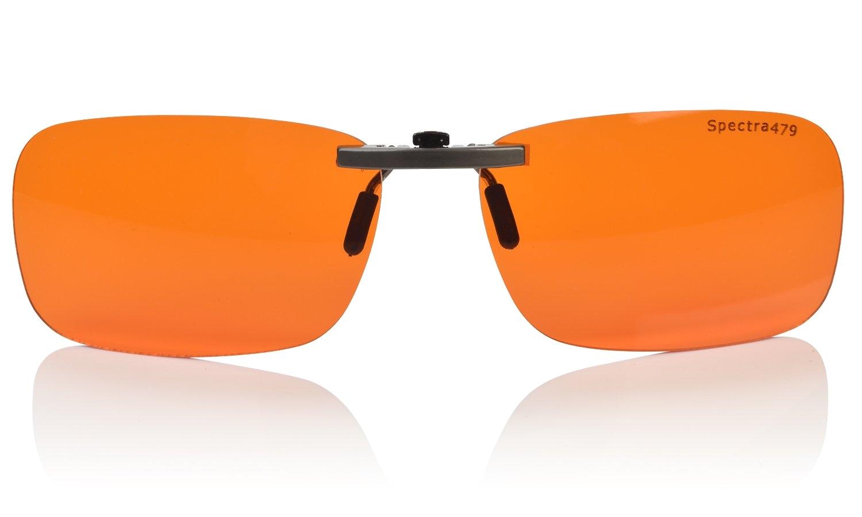 clip on blue blocking amber lenses for sleep biorhythm safetm