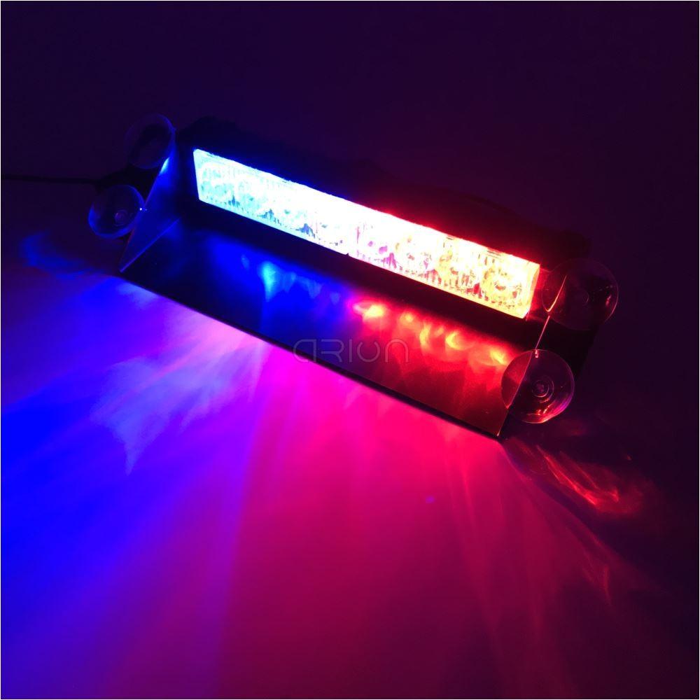 Blue Lights for Cars 12 24 Car 8 Led Blue Red Amber White Car Police Strobe Flash Light