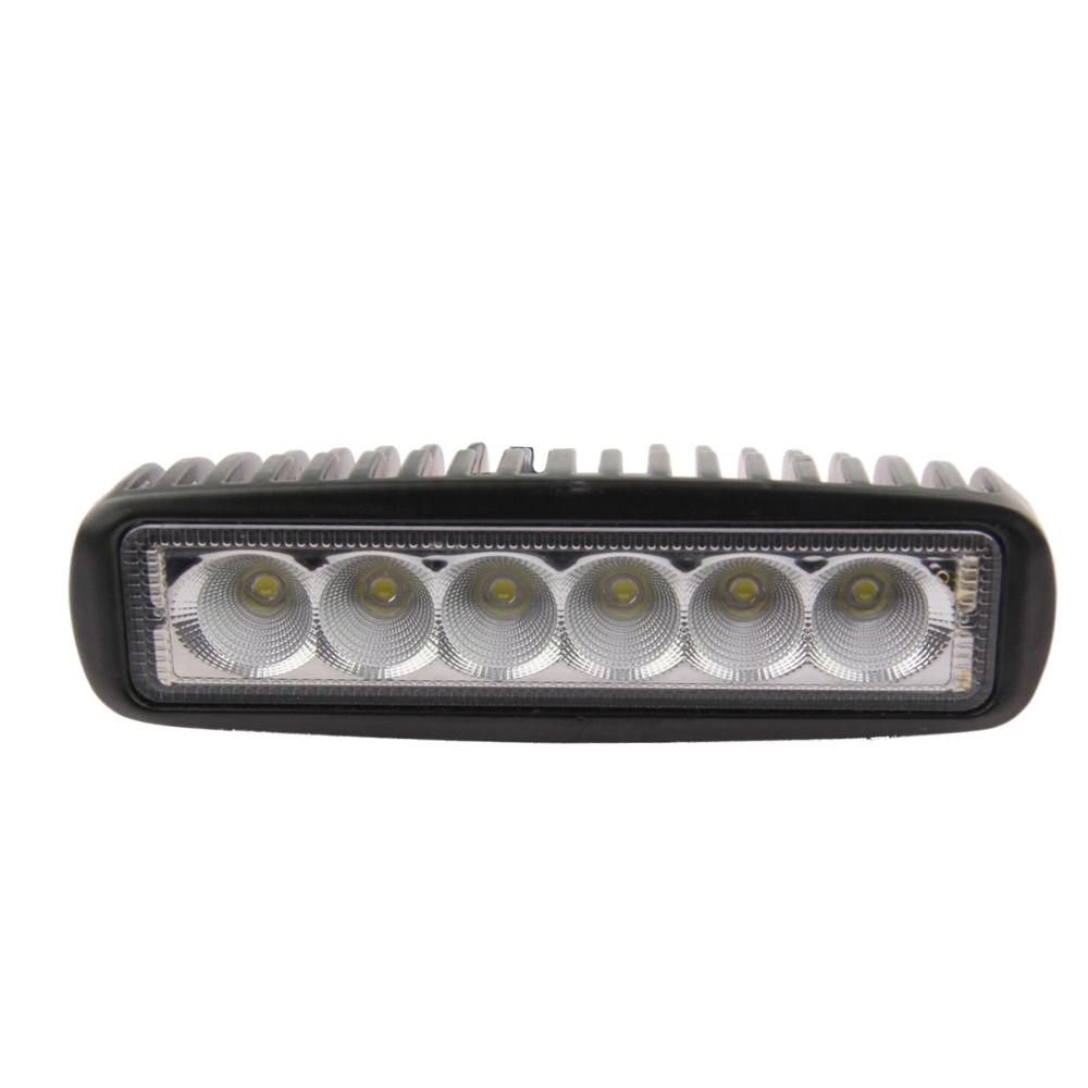 1800 lm mini 6 inch 18w 6 x 3w car cree led light bar as work
