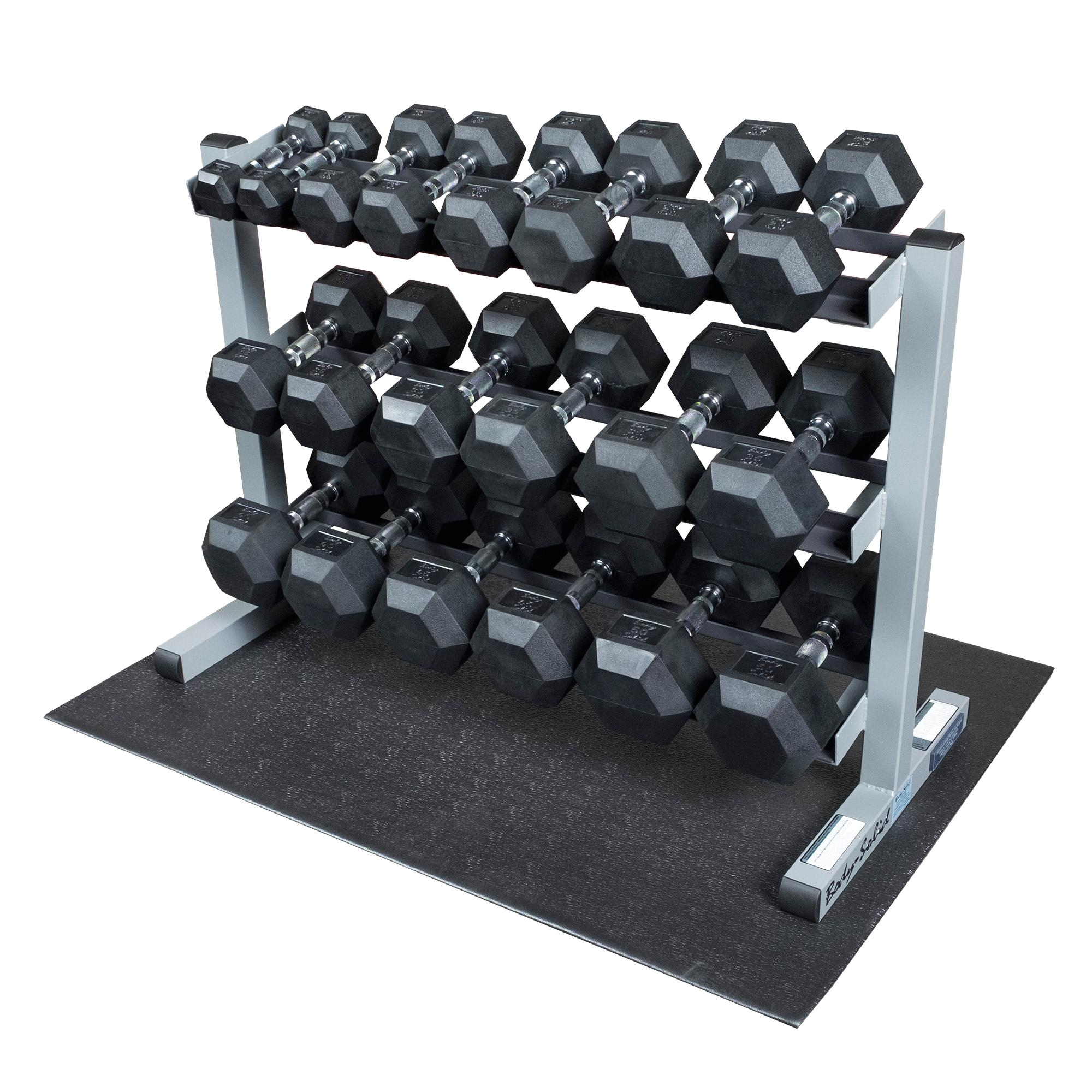 Body Vision Weight Bench Amazon Com Body solid Gdr363 Rfws Dumbbell Rack with Rubber