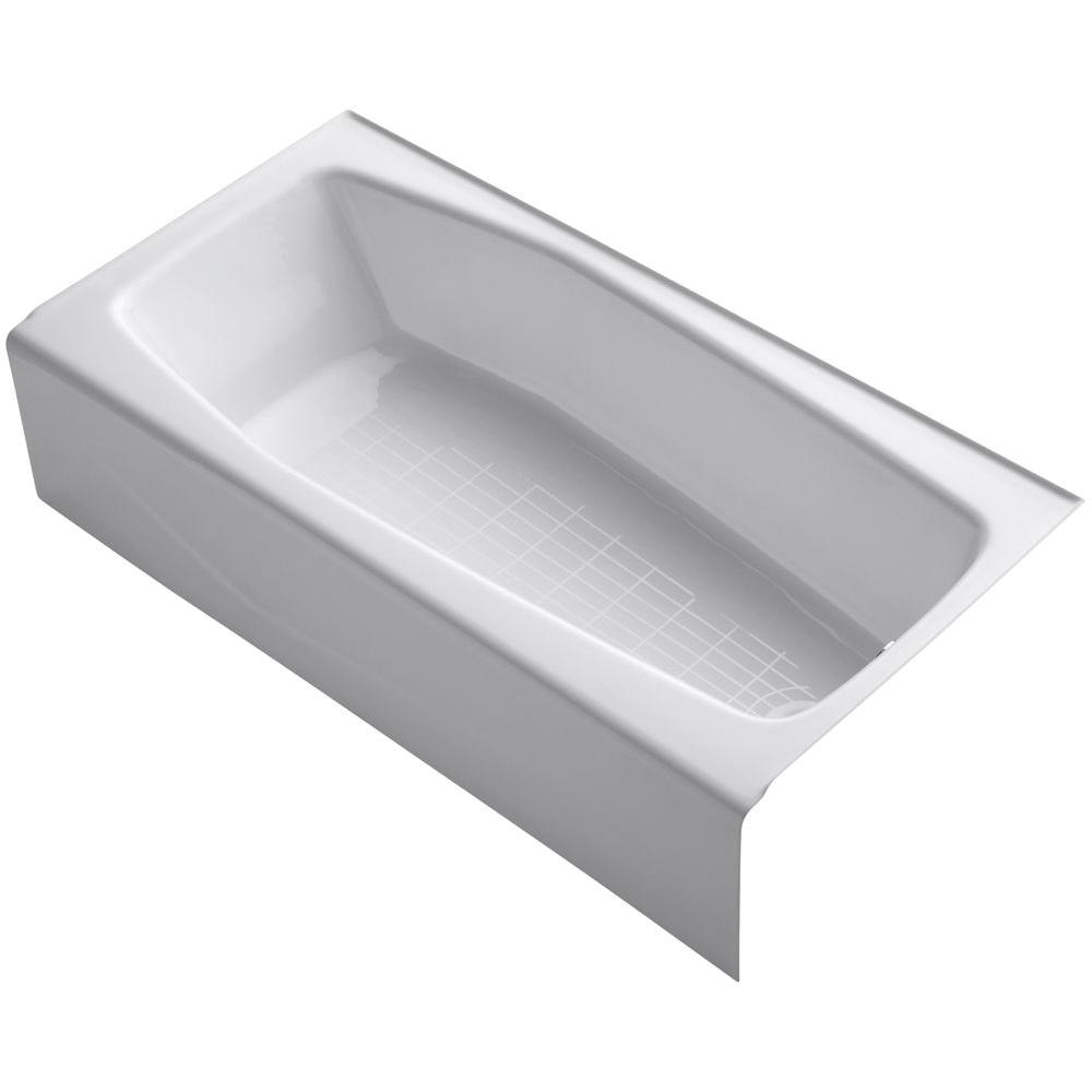 cast iron right hand drain rectangular alcove non whirlpool bathtub