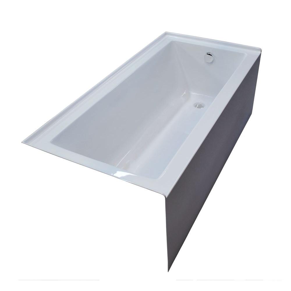 universal tubs amber 5 ft acrylic rectangular drop in non whirlpool bathtub in