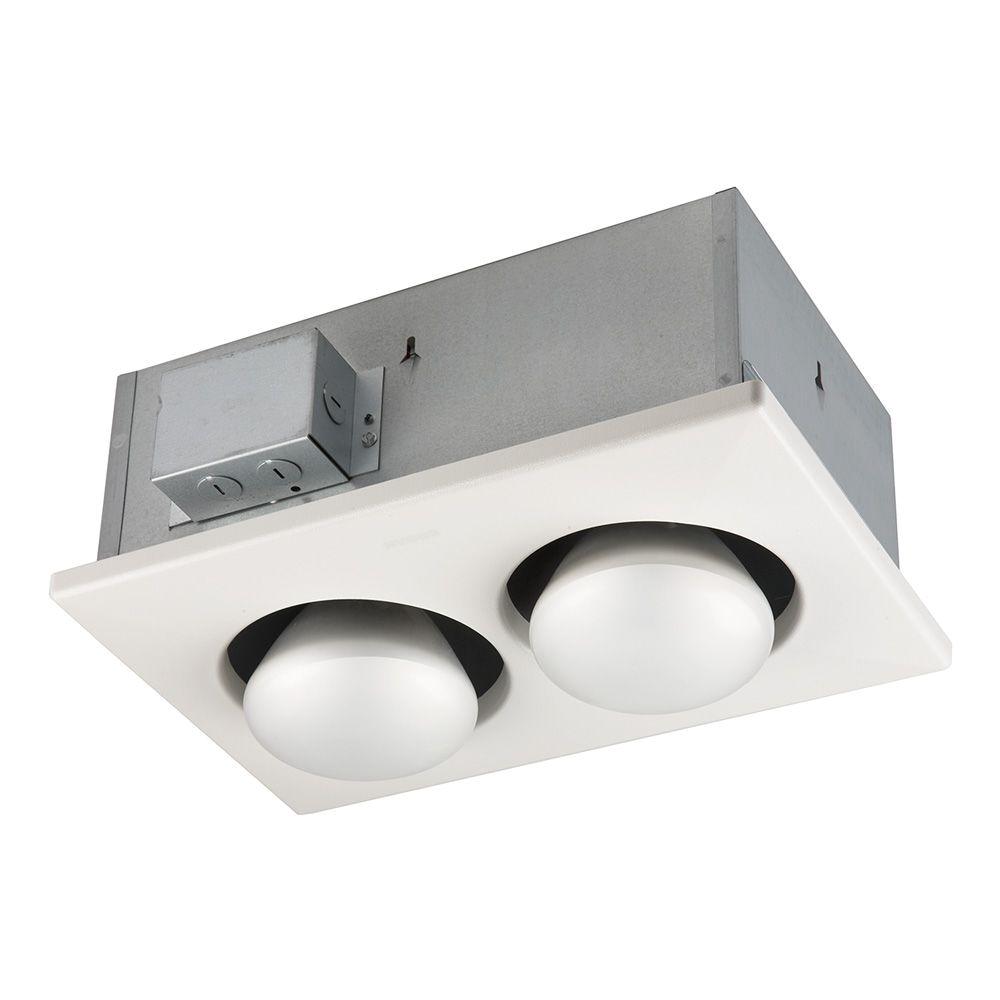 Broan Heat Lamp Fixture Broan 500 Watt 2 Bulb Ceiling Infrared Heater 163 the Home Depot