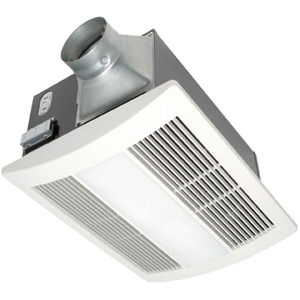 panasonic whisperwarm 110 cfm ceiling exhaust bath fan with light and heater