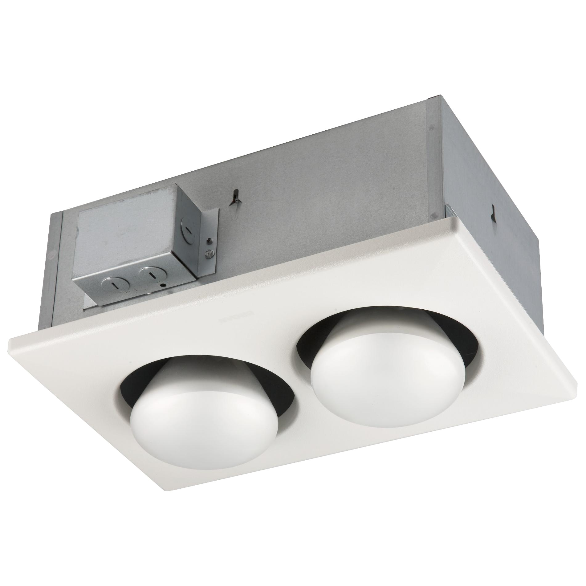 broan 163 type ic infrared two bulb ceiling heater 500 watt
