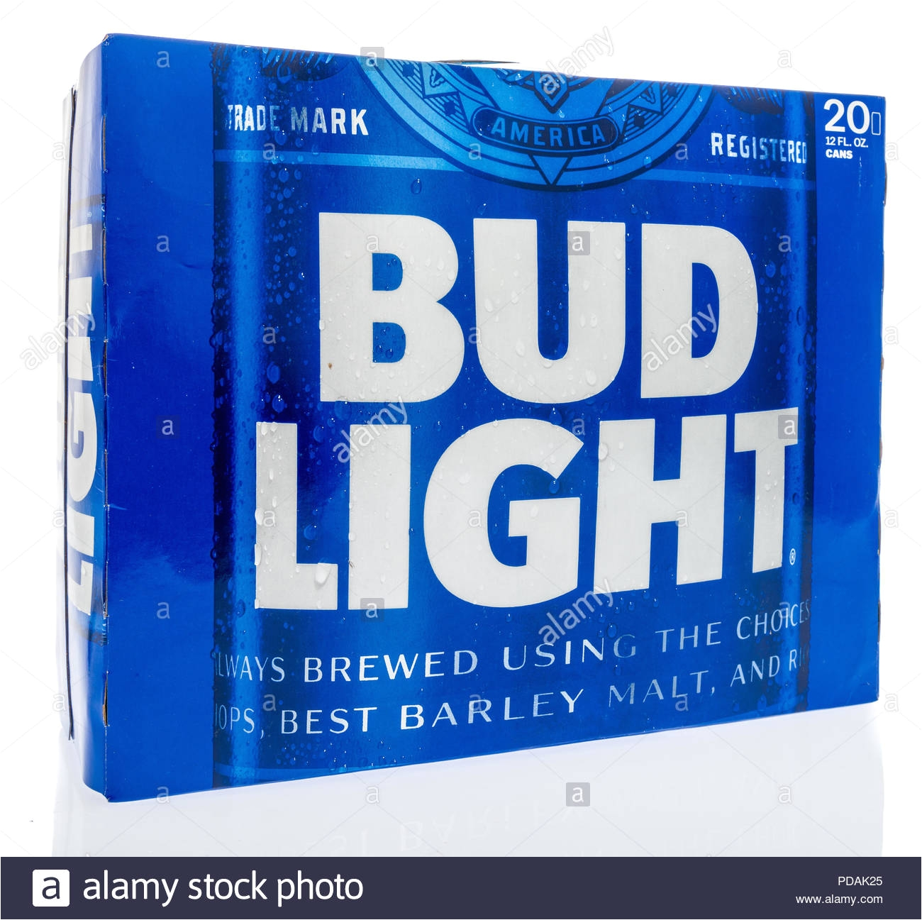 winneconne wi 7 august 2018 a case of bud light beer on an