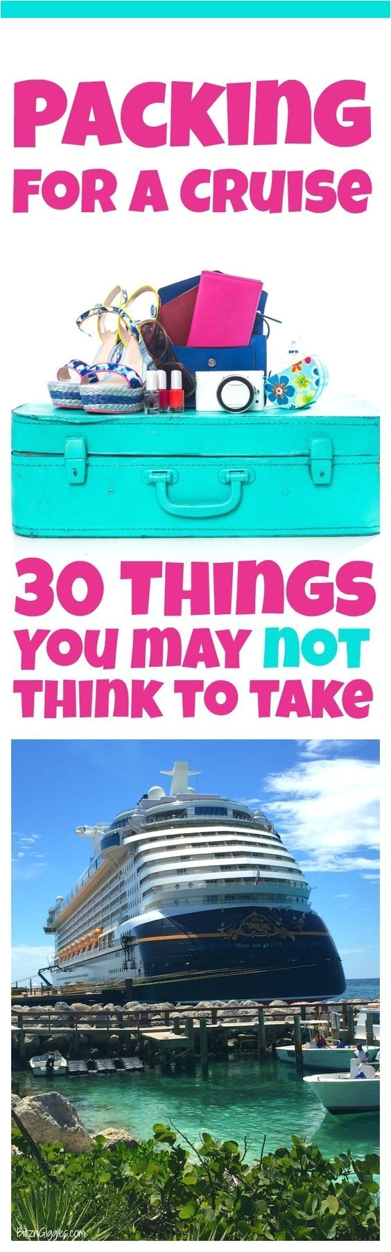 packing for a cruise 30 things you may not think to take