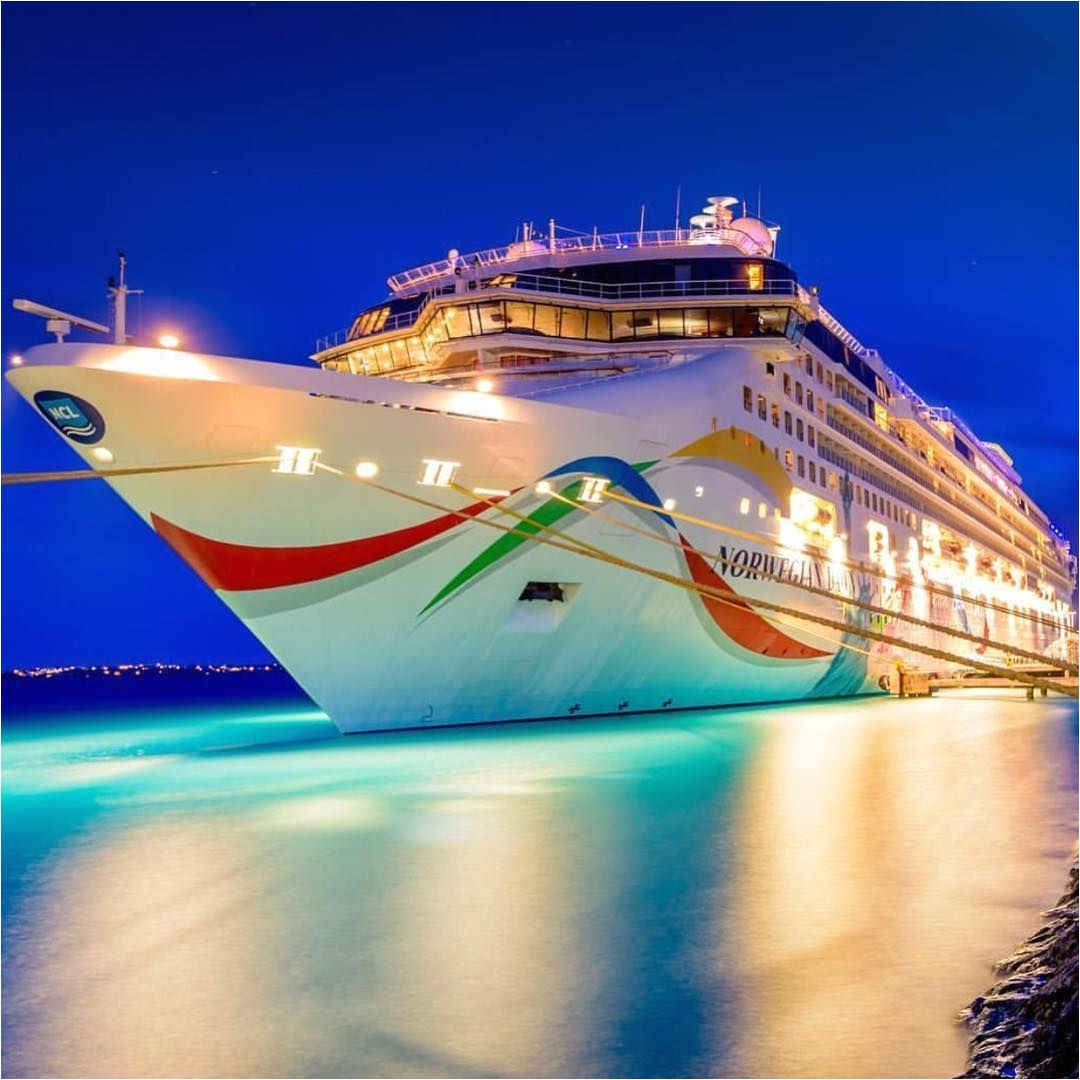 night time in bermuda and norwegiandawn is looking stunning photo by tomsroesser cruiselikeanorwegian cruiseship cruises norwegiancruiseline ncl