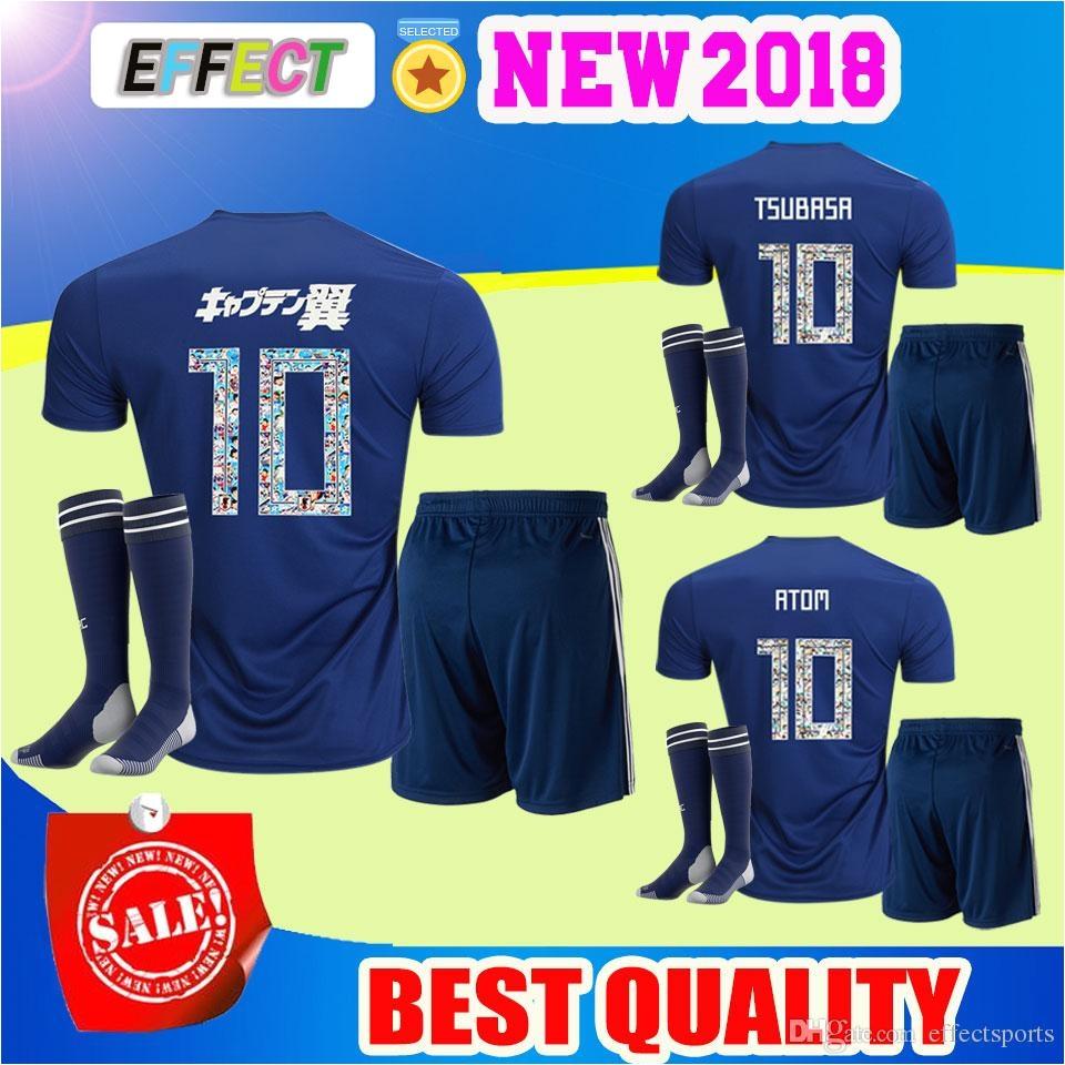 shop soccer sets online 2018 japan soccer jersey atom cartoon number japan tsubasa kagawa okazaki nagatomo kamamoto football shirt kit with as cheap as