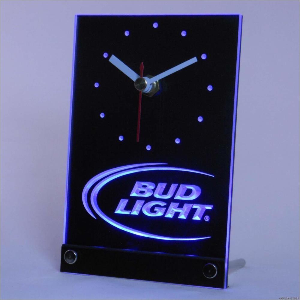 2018 wholesale tnc0470 bud light beer bar 3d led table desk clock from hobarte 23 88 dhgate com