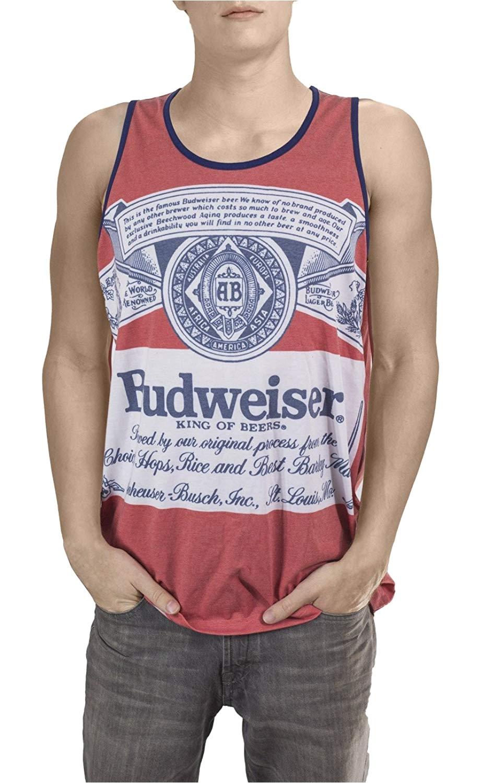 amazon com calhoun sportswear mens budweiser king of beers faded tank clothing