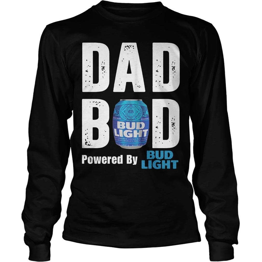 bud light dad bod powered by bud light longsleeve tee