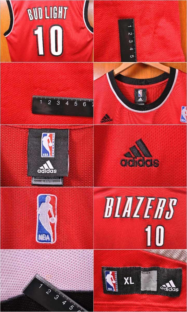 adidas adidas nba portland trail blazers portland trail blazers joel pre dihandbill basketball tank top uniform numbering red men xl for the 2007 budlight