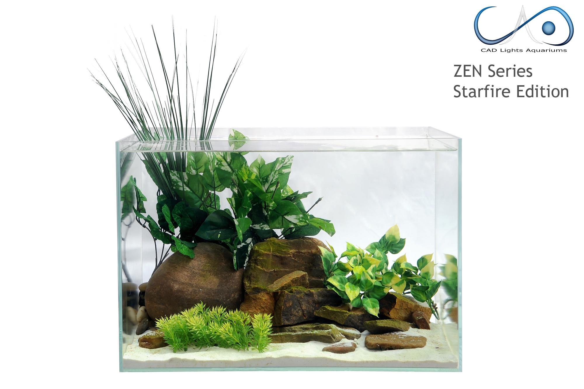 15g zen series ultra low iron glass aquarium
