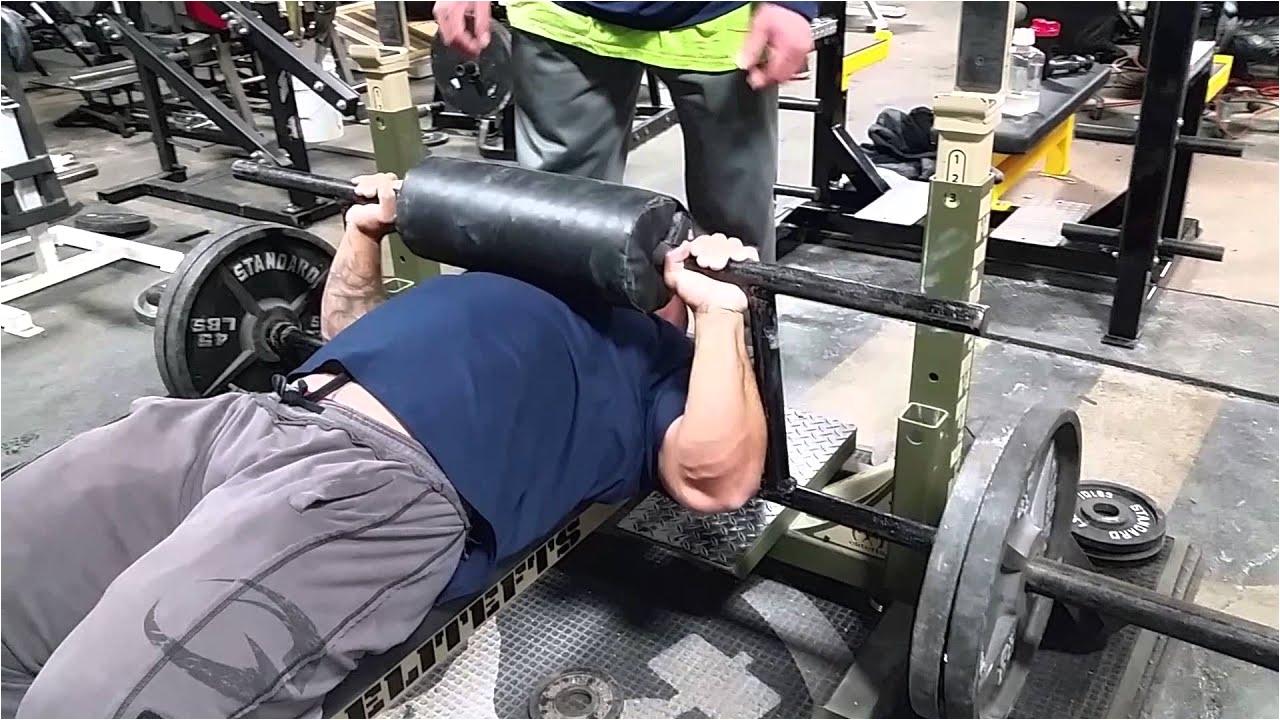 cambered bar bench press