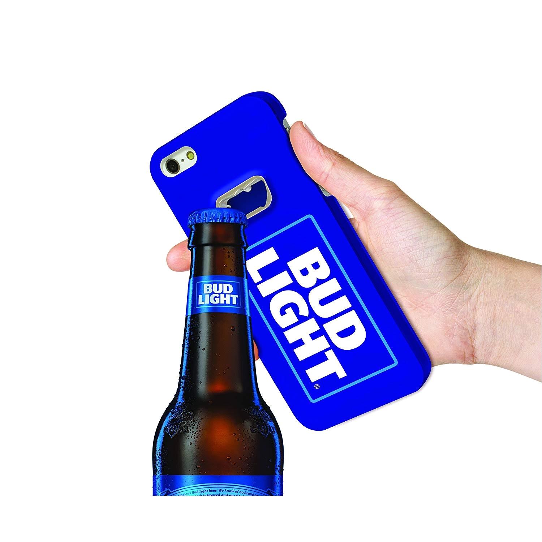 bud light bottle opener cell phone case for apple iphone 6 6s blue